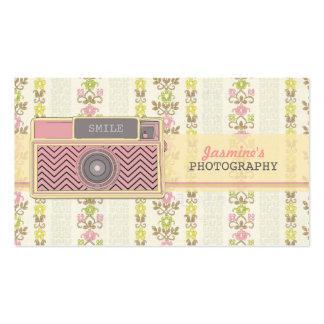 Vintage Zickzack Kamera-Fotografie-Geschäfts-Karte Visitenkarten Vorlage