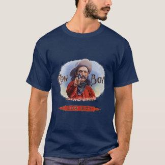Vintage Zigarren-Aufkleber-Kunst, Cowboy schlägt T-Shirt