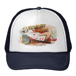 Vintage Zigarren-Aufkleber-Kunst-gerades bündiges Trucker Caps