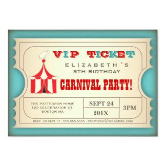 Vintage Zirkus-Karnevals-Geburtstags-Party-Karte 12,7 X 17,8 Cm Einladungskarte