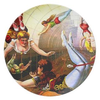 Vintage Zirkustrapeze-Dame Act Poster Wall Art Teller