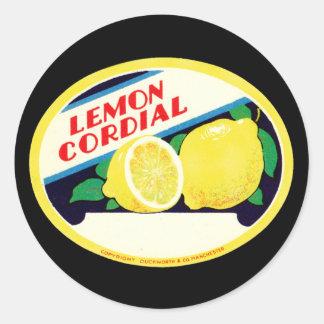 Vintage Zitronen-herzlicher Aufkleber