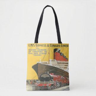 Vintage Zug-Schiffs-Ferienreise Taschentasche Tasche
