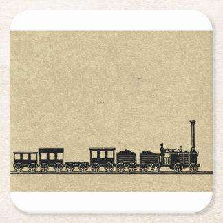 Vintage Zug-Untersetzer Rechteckiger Pappuntersetzer