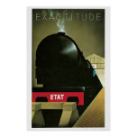 Vintage Zwanzigerjahre französische Kunst-Dekozug- Plakate