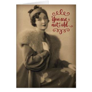 Vintage Zwanzigerjahre Frau, die Retro ist, nicht Karte