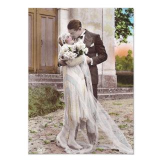 Vintage Zwanzigerjahre Kunst-Deko-Braut-und Karte