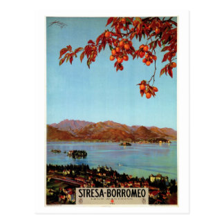Vintage Zwanzigerjahre See Maggiore Stresa Postkarte