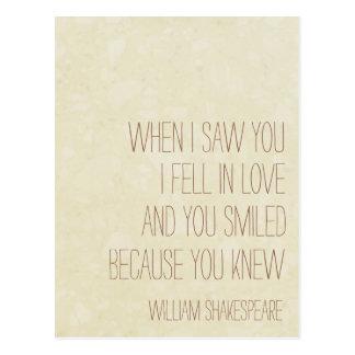 VintageLove - William Shakespeare-Zitat - Postkarte
