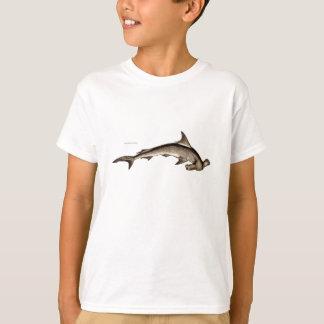 Vintager 1800s Hammerhai-Haifisch-alter T-Shirt