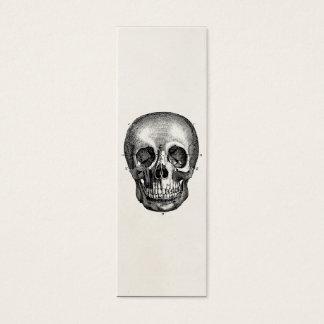 Vintager 1800s Schädel-Retro Schädel Skeleton Mini Visitenkarte
