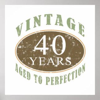 Vintager 40. Geburtstag Posterdruck