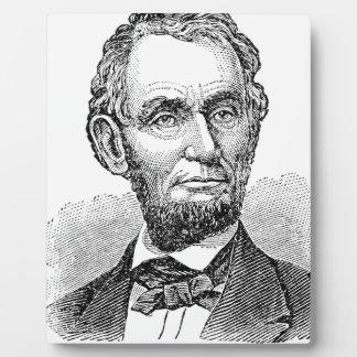 Vintager Abe Lincoln Fehlschlag Fotoplatte