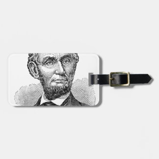 Vintager Abe Lincoln Fehlschlag Gepäckanhänger