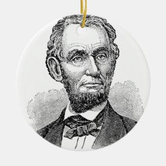 Vintager Abe Lincoln Fehlschlag Keramik Ornament