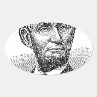 Vintager Abe Lincoln Fehlschlag Ovaler Aufkleber