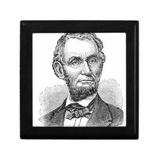 Vintager Abe Lincoln Fehlschlag Schmuckschachtel