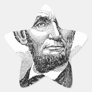Vintager Abe Lincoln Fehlschlag Stern-Aufkleber