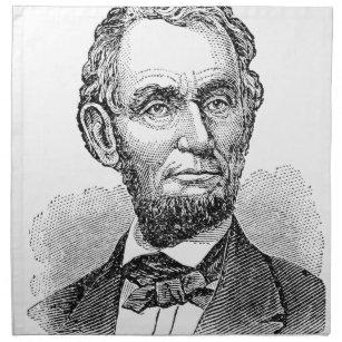 Vintager Abe Lincoln Fehlschlag Stoffserviette