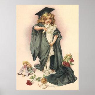 Vintager Abschluss, Glückwunsch-Klasse von 2012 Poster