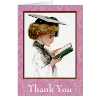 Vintager Absolvent danken Ihnen Karte