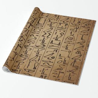 Vintager ägyptischer Hieroglyphen-Papier-Druck Geschenkpapierrolle