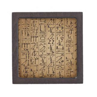 Vintager ägyptischer Hieroglyphen-Papier-Druck Schmuckkiste
