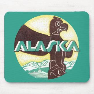 Vintager Alaska-Reise-Totem-Pole-Adler-Vogel Mousepads