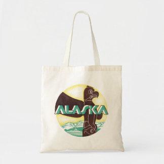 Vintager Alaska-Reise-Totem-Pole-Adler-Vogel Tragetasche