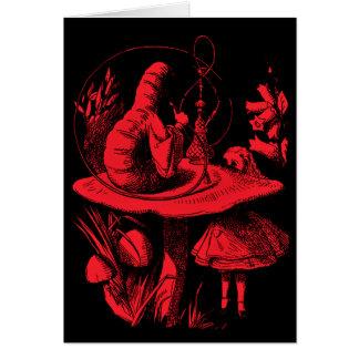 Vintager Alice im Wunderland-Hundertfüßer Karte