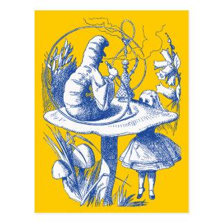 Vintager Alice im Wunderland-Hundertfüßer Postkarte