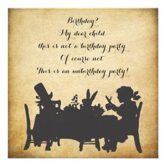 Vintager Alice im Wunderland-Tee-Party-Geburtstag Personalisierte Ankündigungskarte