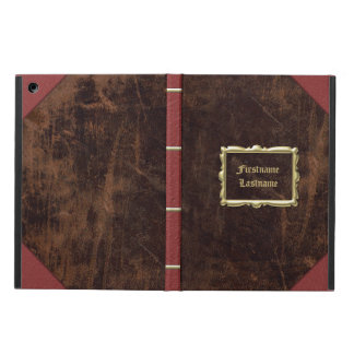 Vintager altes Buch Leder-Blick personalisiert