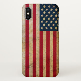 Vintager amerikanische Flagge iPhone X Fall iPhone X Hülle