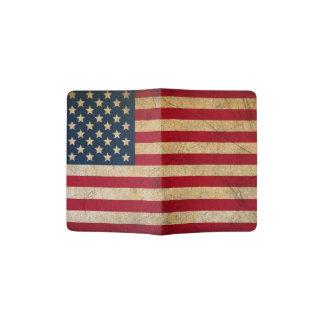 Vintager amerikanische Flaggen-Pass-Halter Passhülle