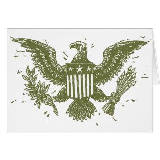 Vintager amerikanischer Adler Grußkarte