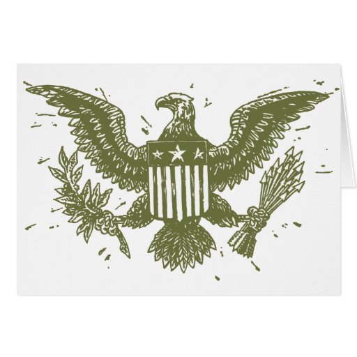 Vintager amerikanischer Adler Grußkarten