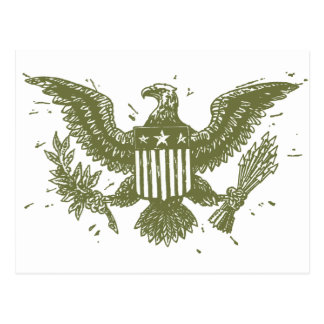 Vintager amerikanischer Adler Postkarten