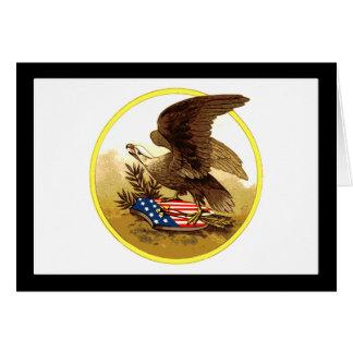 Vintager amerikanischer kahler Adler Grußkarte