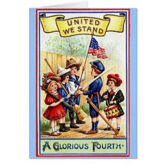 Vintager amerikanischer Unabhängigkeitstag Karte