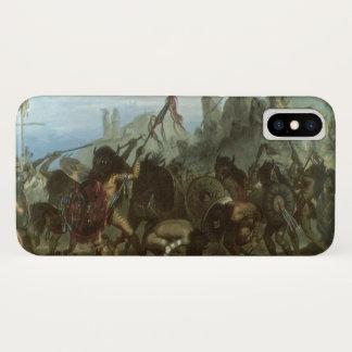 Vintager amerikanischer Ureinwohner, Bison-Tanz iPhone X Hülle