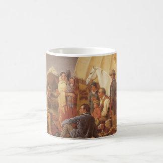 Vintager amerikanischer Westen, Rat auf Grasland Kaffeetasse