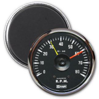 Vintager analoger Auto-Tachometer-runder Magnet