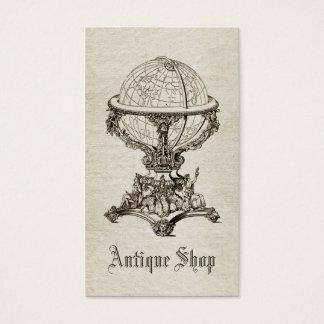 Vintager antiker Geschäftskarten-Schablone Sepia Visitenkarte