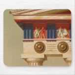 Vintager antiker griechischer alter Doric Tempel Mauspads
