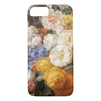 Vintager antiker Öl-Malerei iPhone Mit Blumenfall iPhone 8/7 Hülle