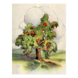 Vintager Apfelbaum Postkarte