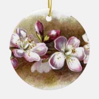 Vintager Apple blüht ringsum Verzierungen Rundes Keramik Ornament