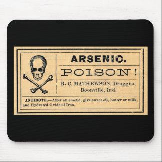 Vintager arsenhaltiger Gift-Aufkleber Mousepads