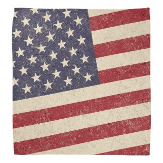Vintager Art-amerikanische Flaggegrunge-Blick Kopftuch